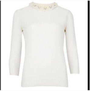 Ted Baker Lucreti embellished collar sweater 2
